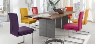size dining room contemporary counter: magnificent colorful dining chairs and stainless steel dining table with hardwood counter