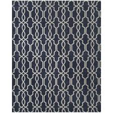home decorators collection kingston geo navy ivory 5 ft x 8 ft indoor