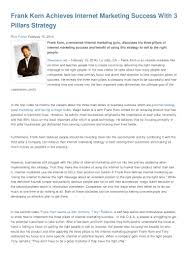 frank kern achieves internet marketing success 3 pillars strategy