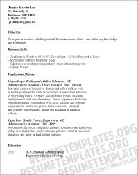Clerical Resume Templates Simple Clerical Resume Templates Resume And Cover Letter Resume And