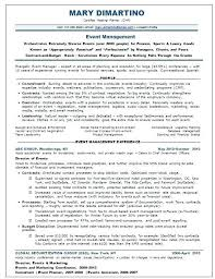 Event Planner Resume Examples New Event Planning Resume Planner