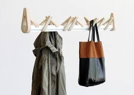 Row Of Hooks Coat Rack Minimalist 'Birds In A Row' Coat Rack Of Birch And Aluminum DigsDigs 20