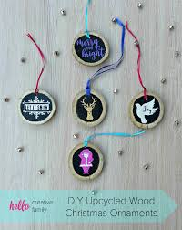 creative homemade christmas decorations. 27+ DIY Christmas Ornaments Kids Can Craft- Upcycled Wood Would Make Creative Homemade Decorations F