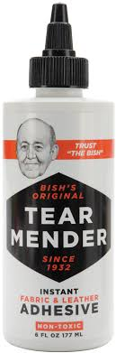 bish s original tear mender instant fabric leather adhesive 6oz com