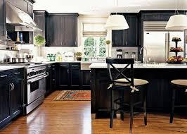 Unique Kitchen Flooring Black Island With White Granite Countertopalso Unique Kitchen