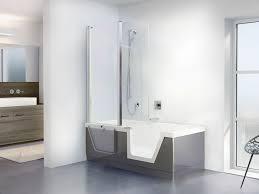Free-standing bathtub-shower combination / rectangular / acrylic - STEP-IN  PURE 02