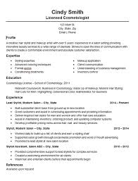 Cosmetology Sample Resume Cosmetology Salon Stylist Resume Example
