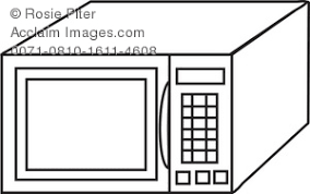 microwave clipart. royalty free clipart illustration of a microwave