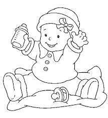 Small Picture Printable Baby coloring pages and Baby pictures
