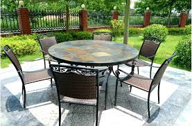 stone top outdoor dining tables slate top patio table impressive slate top outdoor dining sets round