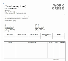 Blank Work Order Forms Templates Free Printable Work Order Template Basecampjonkoping Se
