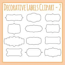 Labels With Border Decorative Label Border Clip Art Pack 02 For Commercial Use