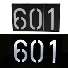 Outdoor Address Light Us 10 68 42 Off 6 Led Solar Power Light Sign House Hotel Door Address Plaque Number Digits Plate Outdoor Waterproof Indicating Solar Porch Light In