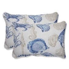 Pillow Perfect Set of 2 Oversized Outdoor Rectangular Throw