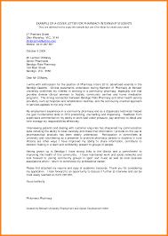 Intern Pharmacist Cover Letter Sample Adriangatton Com