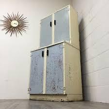 vintage 1940s metal kitchen cupboard