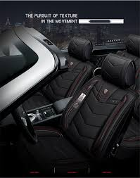 6d pu leather car seat covers cars cushion auto accessories car styling