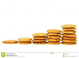 Cookie Chart Cookie Increase Chart Stock Illustration Illustration Of