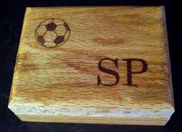 personalized engraved coach gift whistle box top soccer monogram wood
