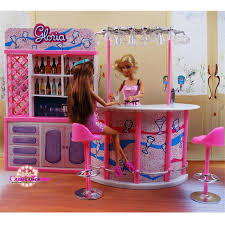 Barbie furniture for dollhouse Pinterest Miniature Furniture Happy Hour Relax Time For Barbie Doll House Pretend Play Toys For Girl Free Aliexpress Miniature Furniture Happy Hour Relax Time For Barbie Doll House