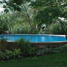 in ground swimming pool. Semi-Inground Pools In Ground Swimming Pool