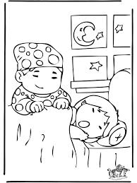 Slapen 1 Kleurplaat Kinderen