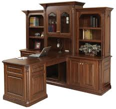 amish lexington partner desk with optional three piece hutch