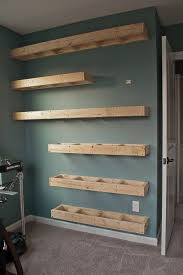 office floating shelves. Step By Step Tutorial For Building Amazing Floating Shelves An  Industrial Masculine Office. These Only Cost Her $150 To Build! Office