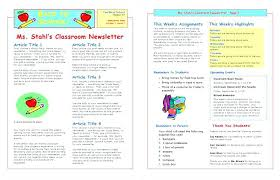 School Newsletter Template For Word School Newsletter Templates Word Classroom Template Microsoft