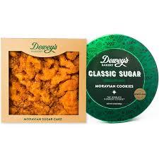sugar cake and moravian sugar cookie tin gift set