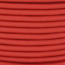 18 2 svt b burnt orange nylon fabric cloth covered pendant and table lamp wire