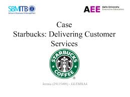Answer the question being asked about Starbucks delivering     Academy of Achievement