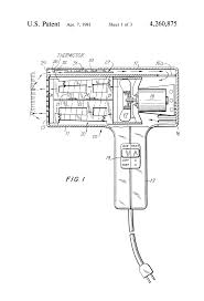 patent us4260875 controlled temperature hair dryer google patents patent drawing