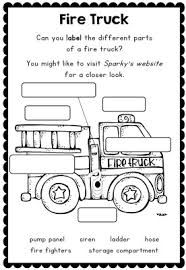 sparky the fire dog. fire safety week with sparky the dog - worksheets for grades 1-2