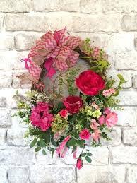 S Artificial Spring Wreaths Outdoor Pink Wreath For Door Decor Front