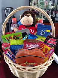 basket i made my boyfriend for valentines day with candy snacks lottery tickets gift cardore