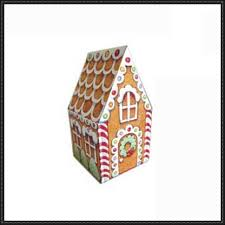 Christmas Simple Gingerbread House Free Papercraft Download