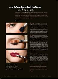 makeup and article for rumway magazine