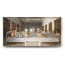 Leonardo da Vinci - Son Akşam Yemeği Tablosu - 60x30cm: Amazon.com.tr