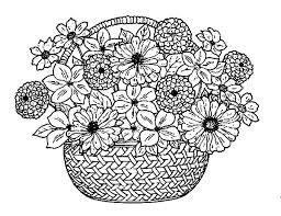 Printable Coloring Pages Of Flowers And Butterflies Pictures Of Flowers To Color Coloring Page Flower Plain