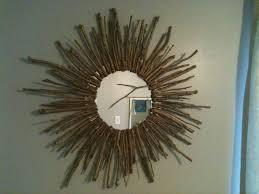 wooden gold sunburst mirror for enchanting wall decoration ideas