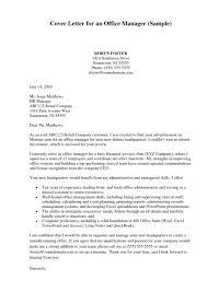 Office Manager Sample Resume Resume Samples Office Administrator Cover Letter Sample Office 44