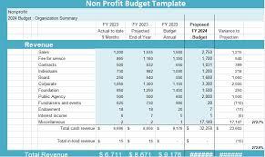 Non Profit Budget Template Microsoft Project Management