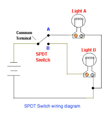 wiring diagram for single pole double throw switch wiring spdt toggle switch wiring diagram