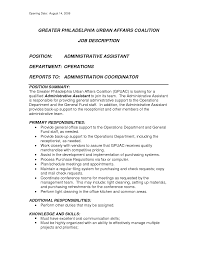 Job Description For Office Assistant Resume Front Office Receptionist Duties And Responsibilities Medical 2