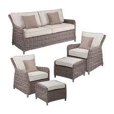 boston loft furnishings fiona 5 piece wicker patio