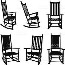 rocking chair silhouette. Wonderful Silhouette Rocking Chair Silhouette Front Porch Chairs Stock Vector Art  Full  Resolution File Intended