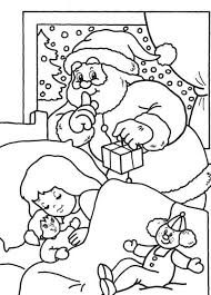 Small Picture Santa Delivering Gifts Santa Christmas Easy Coloring Pages