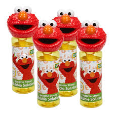 Elmo Light Up Wand Little Kids Sesame Street 4 Piece Bubble Heads With Wand
