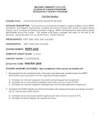 certified respiratory therapist resume sales therapist lewesmr new massage therapist resume examples